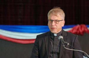 The Rev. Dr. Olav Fykse Tveit, the general secretary of the World Council of Churches, addresses the Asia Mission Conference in Yangon, Myanmar, on October 15, 2017.