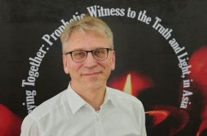 The Rev. Dr. Olav Fykse Tveit, the general secretary of the World Council of Churches, participating in the Asia Mission Conference in Yangon, Myanmar, on October 14, 2017.