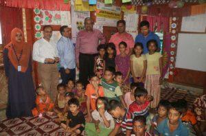 With Rohingya Children at CFS