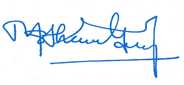 GS Signature (Blue Color)